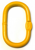 Oval-shaped link